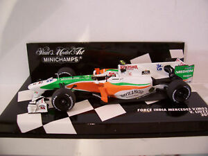 F1 MERCEDES FORCE INDIA VJM03 2010 o 1/43 MINICHAMPS 410100015 formule 1 voiture