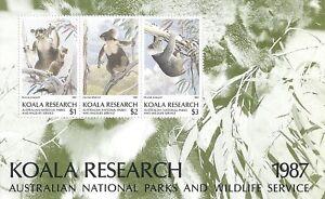Australia Koala Research Souvenir Sheet, Wildlife Cinderella - MNH 1987