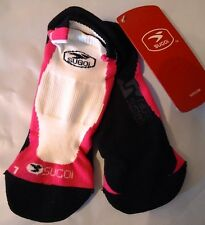 SUGOI RS Ped Socks Large Run Cycle Athletic Wicking Reinforced Toe Heel Pink