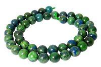 😏 Lapislazuli Perlen grün - blaue Kugeln 8 mm Edelsteinperlen Lapis Strang 😉
