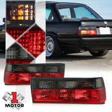Chrome Housing Red/Smoked Lens *EURO* Tail Light Lamp for 83-87 BMW E30 3-Series