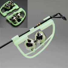 2Pcs Luminous Light Night Twin Bells Tip Clip On Fishing Rod Bite Alarm Alert SP