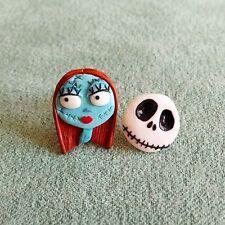 Fatto a mano Nightmare Before Christmas Sally e Jack lo scheletro Orecchini Jewelry
