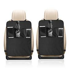 [2-Pack] Car Seat Back Protector Cover For Children Babies Kick Mats Storage Bag