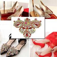 1pcs Vintage Style Diamante Dark Silver Rhinestone Crystal DIY Shoe Clips Charms