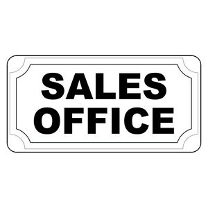 Sales Office Black Retro Vintage Style Metal Sign - 8 In X 12 In With Holes
