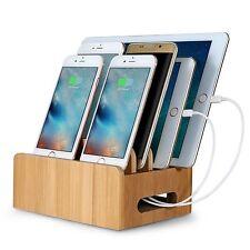 Bambus Dockingstation Ladegerät Halterung Holder für iPad iPhone 5 6 6S 7+Tablet