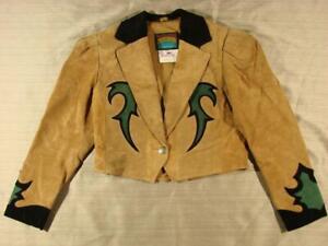 80's VTG Pioneer Wear Cropped Suede Leather Western Jacket Medium M