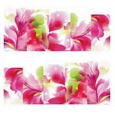 Fullcover Sticker Nail Art Wrap Nagelsticker Blume Blüte Rosa Weiss C170