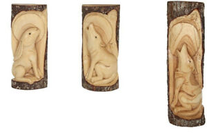 Log Carvings For Indoor /Outdoor Use. Wolf & Hare