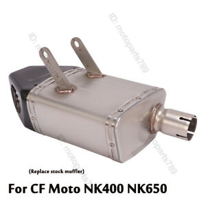 For CF Moto 400NK 650NK Motorcycle Exhaust System Muffler Tail Pipe Carbon Fiber