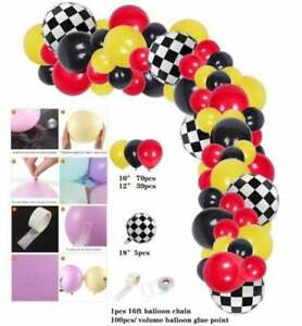 Race Car Arch Kit Balloon Garland for Birthday Baby Shower Party Supplies