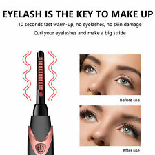 USB Rechargeable Electric Heated Eyelash Curler Beauty Makeup Tool Portable