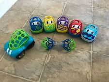Oball Toy Lot-Baby/Toddler Grip Toys- 6 Cars + 1 Rattle