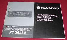 Manuale d'uso LIBRETTO AUTO CASSETTE RADIO SANYO FT 224lv Autoradio 1980er