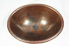 "19"" Oval Copper Vessel Bathroom Sink with DRAIN"