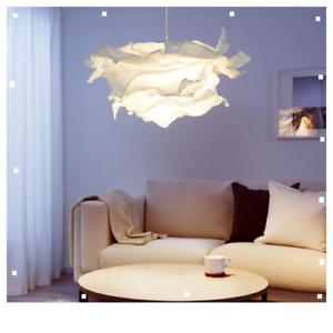 Ikea KRUSNING Pendant lamp Shade White,Funky 85cm,Paper 502.599.21 uk-pup10