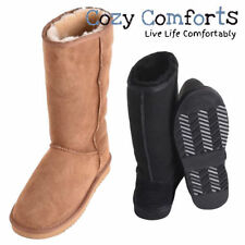 Flat (less than 0.5') Suede Slip On Casual Boots for Women
