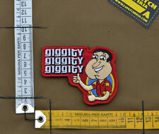 "Ricamata / Embroidered Patch Glenn Quagmire ""Giggity"" with VELCRO® brand hook"