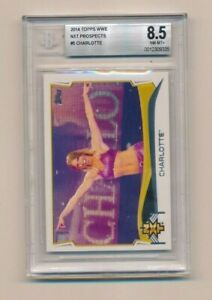 2014 Topps WWE #5 Charlotte NXT RC  BGS 8.5