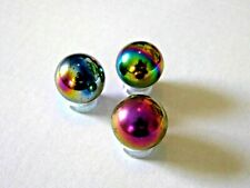 Rainbow Hematite Sphere Gemstone Crystal Ball  25mm Diameter small stand