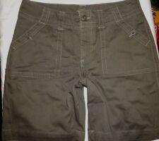 Shorts Riders Lee 12 (34x8) Brown Casual Walking Cotton Deep Pockets Womens B9