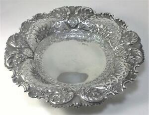 """Victorian hallmarked Sterling Silver Dish / Bowl (8 ½"""" diameter) –  1893  (220g)"""