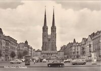 alte AK, Halle (Saale) - Hallmarkt == uralte KFZ Litfaßsäule