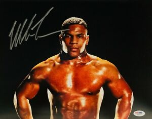 Mike Tyson Autographed 11x14  Boxing Photo Signed PSA DNA 02