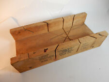"""Antique Millers Falls Tools 12"""" Maple Wood Wooden Mitre Box No. 612, Made USA"""