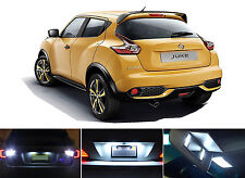White LED Package - License Plate + Reverse for Nissan Juke (4 Pcs)