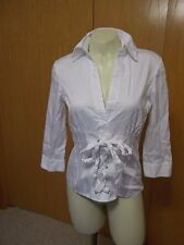 Womans NEXT White Sexy Corset Fitted Blouse Size 8 US/10UK EUC