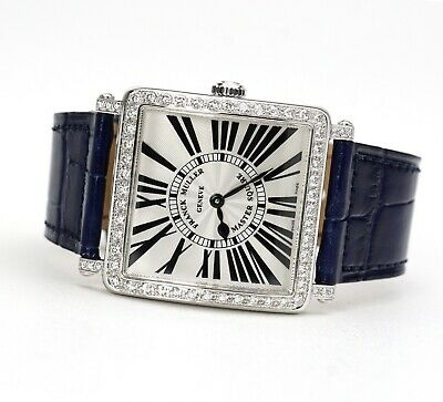 Franck Muller Master Square Diamond Wristwatch 6002 M B QZ R D 1R