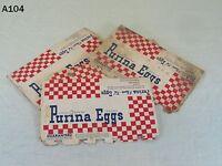 Vintage Ralston PURINA Feed Egg Carton Lot