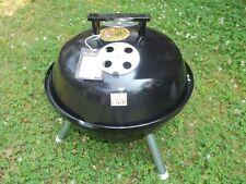 Vtg Unused 1970s Happy Cooker Portable Porcelain Steel Kettle Bbq Grill Weber