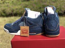 Levi's X Air Jordan 4 Retro Blue Denim Blue Jean/Levi Size 10