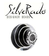 Genuine SilveRado 925 silver SILVER SPIRAL extra large Murano Focal charm bead