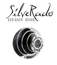 Genuine SilveRado 925 silver SILVER SPIRAL extra large Murano Focal charm bead