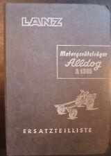 Lanz Motorgeräteträger Alldog 1305 Ersatzteilkatalog
