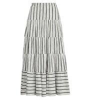 NEW Ralph Lauren Tiered Maxi Skirt Women's Size Medium Black White $125