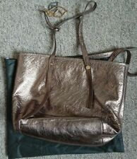 See by CHLOÉ Leather Handbag Bag Gold Love Hearts Tote Medium Party Summer!