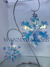 SWAROVSKI 2016 EXTRA LARGE & RARE large edition 2004 snowflake ornament +STAND !