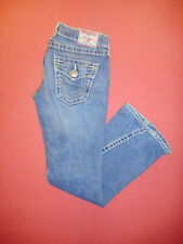 True Religion Joey Big 7-Damen Blau Denim Jeans-Taille 26 Bein 30-B702
