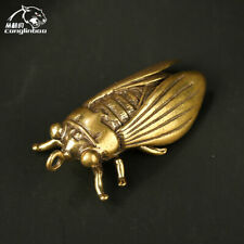 Collection Antique Old Brass Mini Cicada Cicada Enrichment Feng Shui