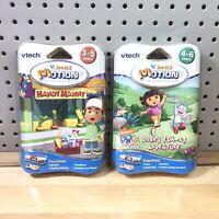 Vtech V. Smile Motion Handy Manny & Dora Explorer Lot of 2 Learning Games New