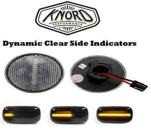 LAND ROVER RANGE ROVER L322 LED DYNAMIC CLEAR SIDE REPEATER INDICATOR PAIR