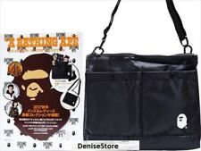 NEW JAPAN A Bathing Ape Bape Black Tote Bag SidePack from Japan Magazine