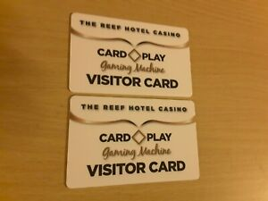 2 Cairns reef hotel casino poker slot card cards gaming credit las Vegas chip