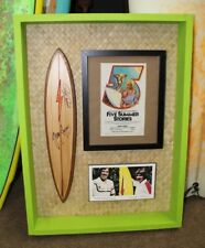 Gerry Lopez Rory Russell Signed Lightning Bolt Mini Surfboard Rick Griffin Art