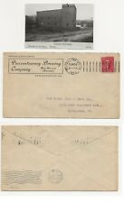 Pre Prohibition Brewery Advertising Postal Cover Punxsutawney Pa & Brewery Pic
